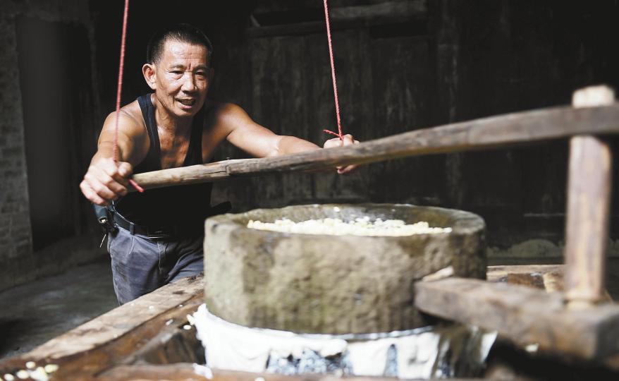 """传统工艺""""做""""醋水豆腐"""